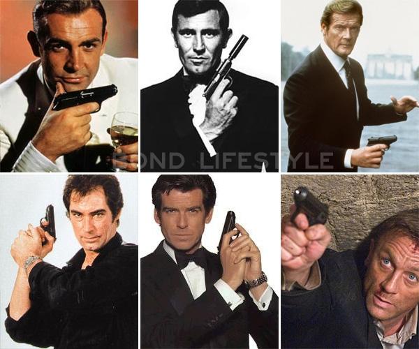 Пистолет Вальтер ППК калибра 7,65 мм является основным оружием агента 007 Джеймса Бонда
