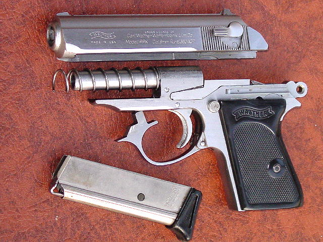 9-мм Вальтер ППК — неполная разборка