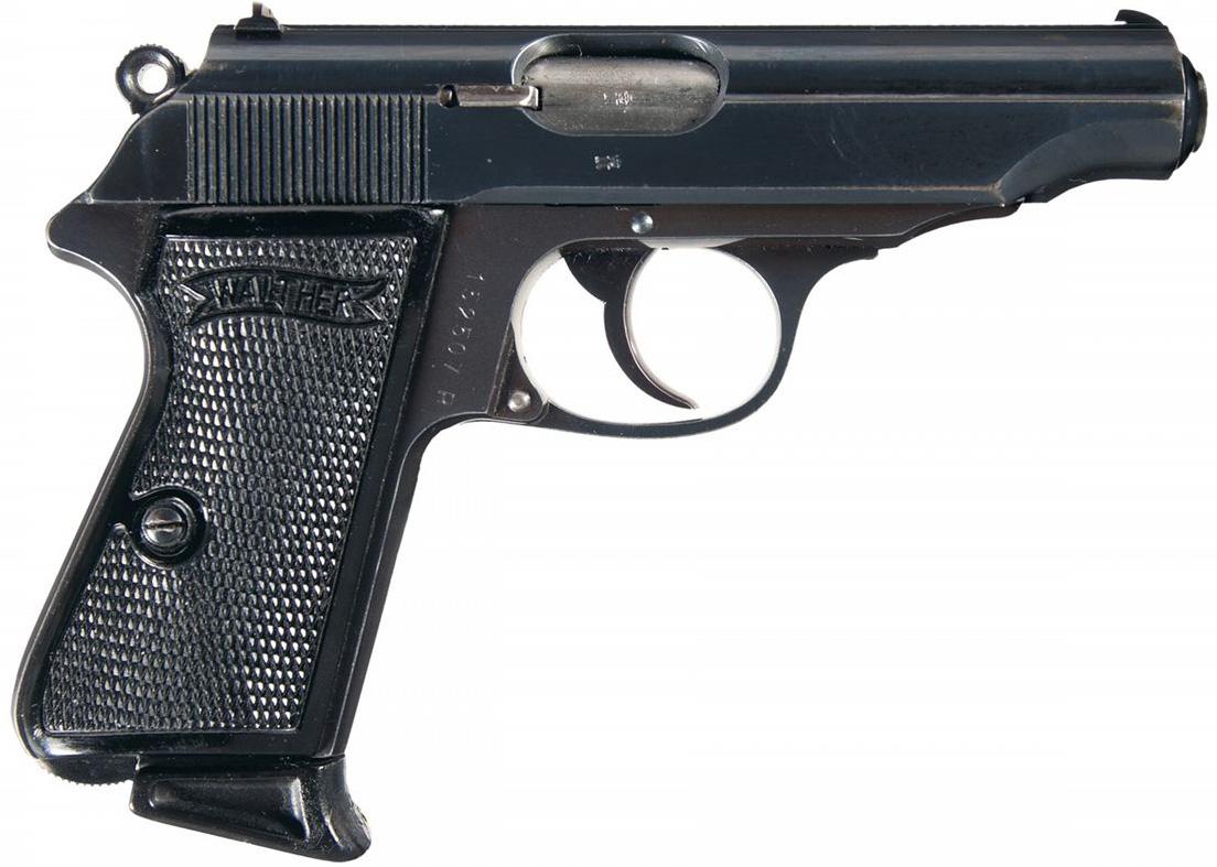 Пистолет Walther PP калибра 9 мм, вид справа