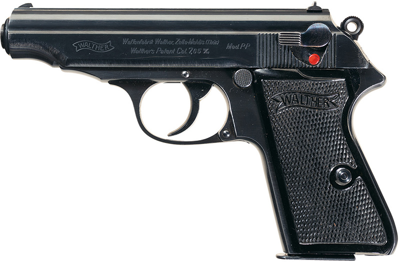 Пистолет Walther PP калибра 7,65 мм, вид слева