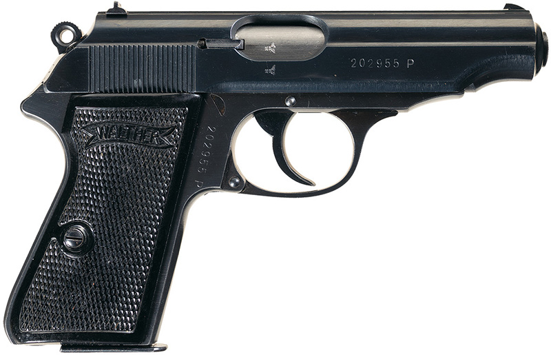 Пистолет Walther PP калибра 7,65 мм, вид справа