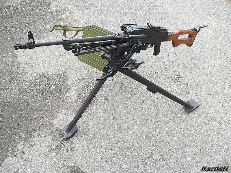 Пулемет Калашникова ПКМС на станке 6Т5 конструкции Степанова