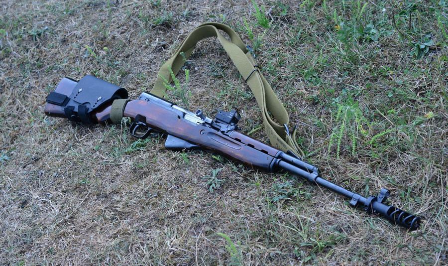 СКС-45 - самозарядный карабин Симонова