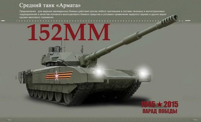 Т-14 «Армата» с 152-мм орудием