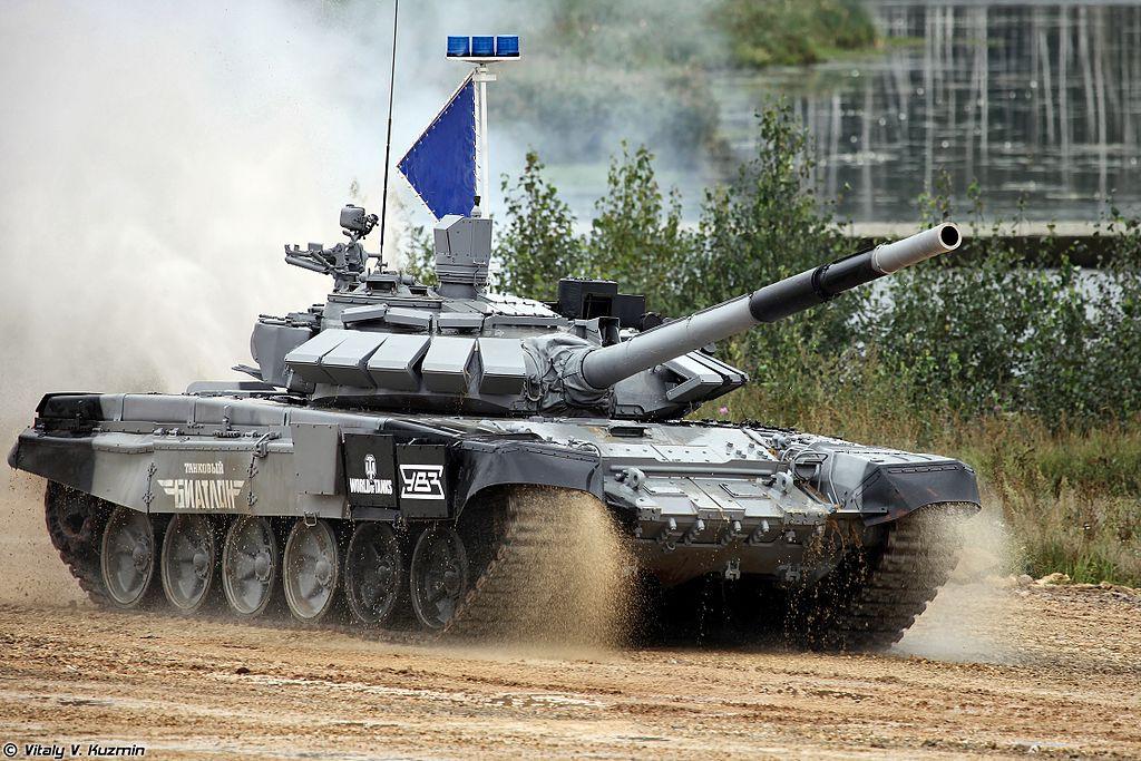 Т-72Б3 обр. 2014 на танковом биатлоне 2014