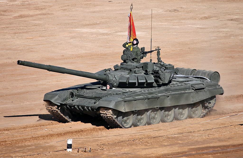 Российский Т-72Б3, впервые продемонстрированный на танковом биатлоне 2013
