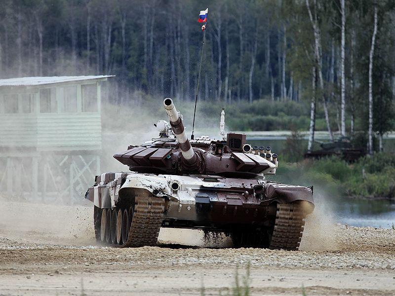 T-72Б3 на танковом биатлоне в качестве участника