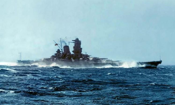 Маневрирование линкора 'Ямато'
