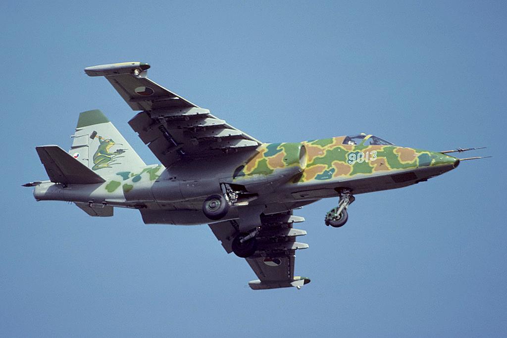 Штурмовик Су-25К ВВС Чехии