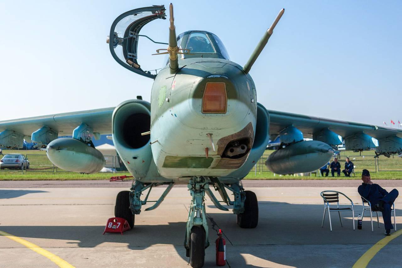 Штурмовик Су-25СМ на Международном авиакосмическом салоне МАКС-2011