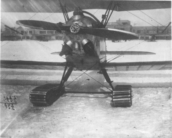 Экспериментальный У-2 на гусеничном шасси Чечубалина