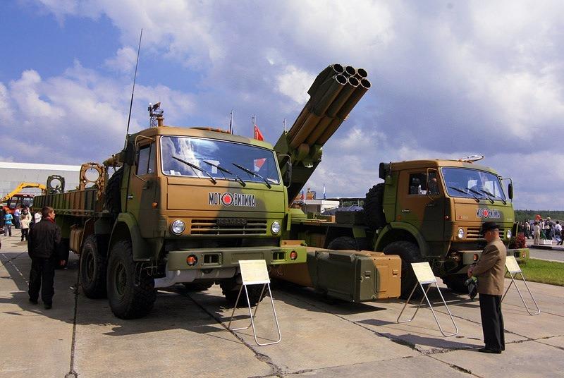 ТЗМ 9Т234-4 и БМ 9А52-4 из состава РСЗО «Кама»