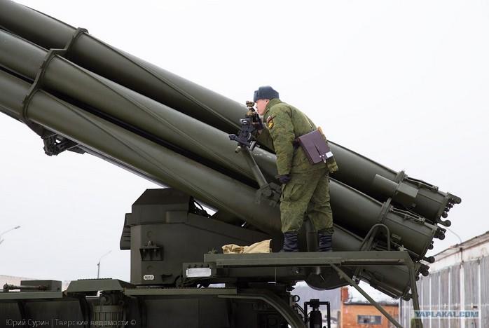 РСЗО 9К58 'Смерч' - реактивная дальнобойная система залпового огня