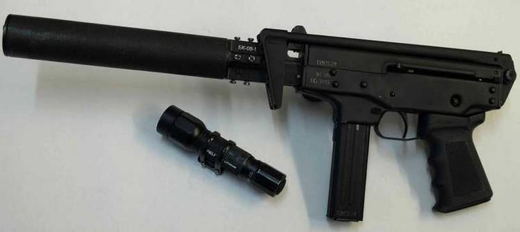 Пистолет-пулемёт ПП-91-01 «Кедр-Б» с интегрированным глушителем