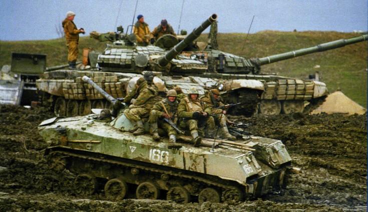 БМД-1П в ходе проведения контртеррористической операции в Чеченской республике