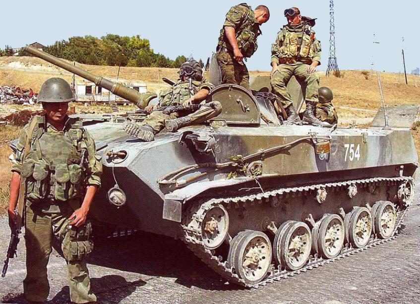 БМД-1П в Южной Осетии. Август 2008 г.
