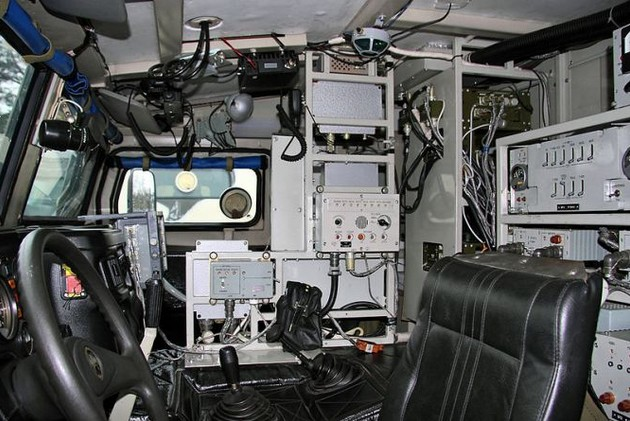 Внутри КШМ Р-145БМА 'Тигр'