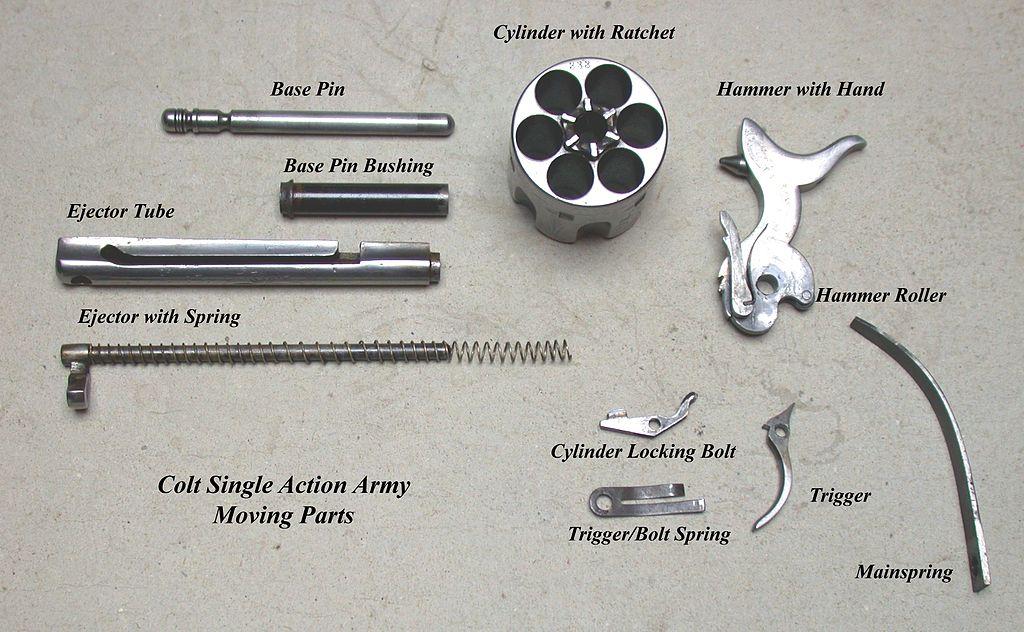 Детали револьвера Colt SAA