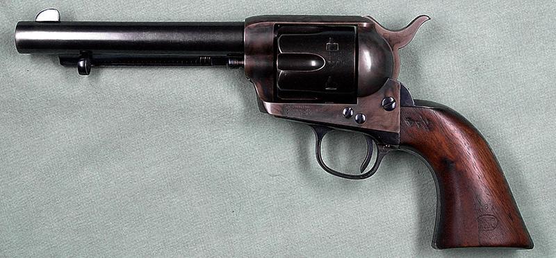 Второе поколение <a href='https://arsenal-info.ru/b/book/4108361891/82' target='_blank'>Colt Single Action Army</a> 1873 года «Артиллерийская» модель со стволом 5,5', .357 Mag