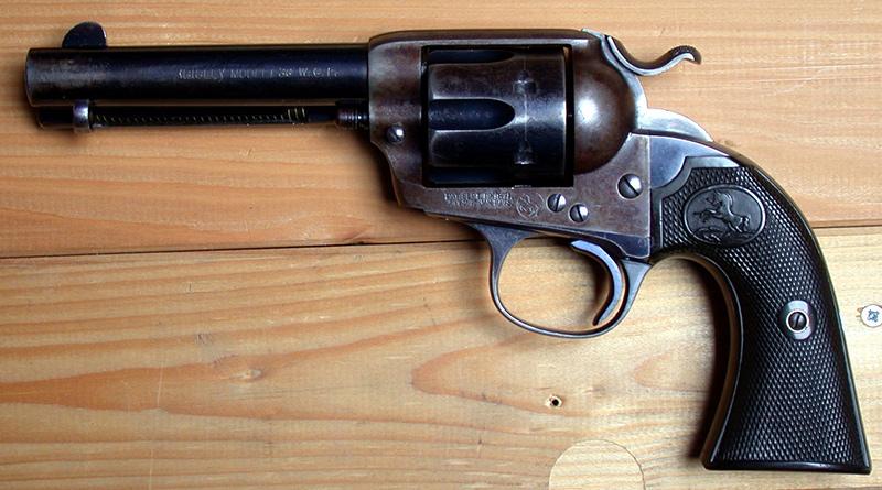 Colt Bisley - целевой пистолет со стволом около 4.75', 38-40 WCF