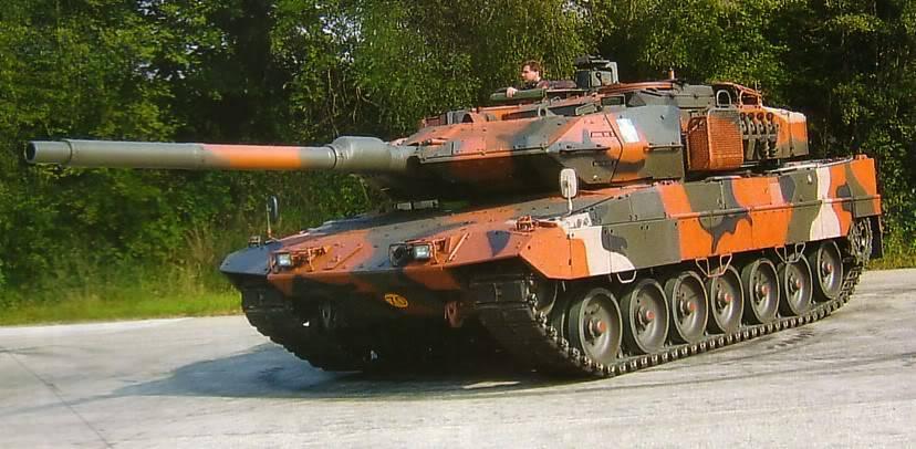 Танк 'Леопард-2HEL' вооруженных сил Греции