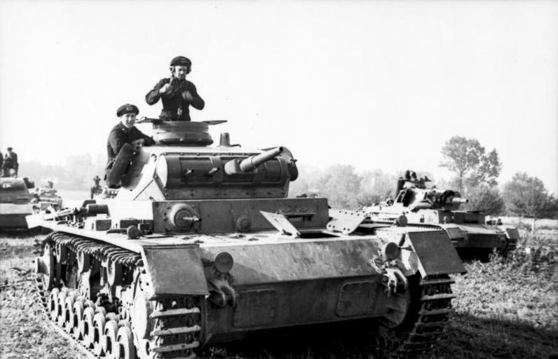 PzKpfw III Ausf. D, Польша, 1 сентября 1939 года.