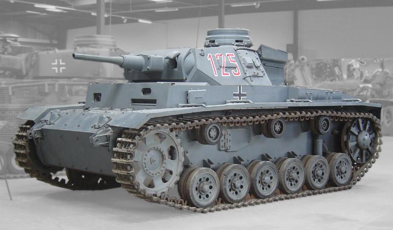 Немецкий танк PzKpfw III Ausf. H