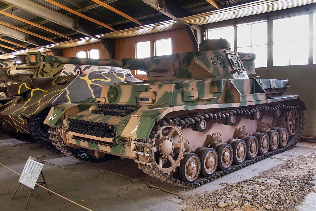 Танк PzKpfw IV Ausf G. Бронетанковый музей в Кубинке.