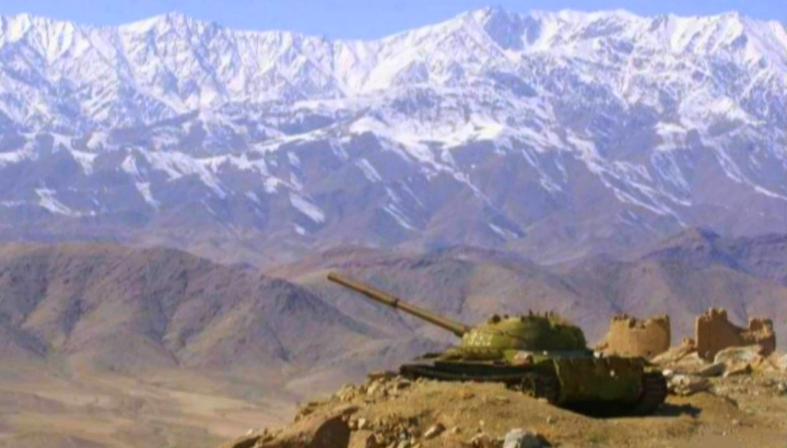Т-62 на позиции в афганских горах, ОКСВА, 1984-85 гг.