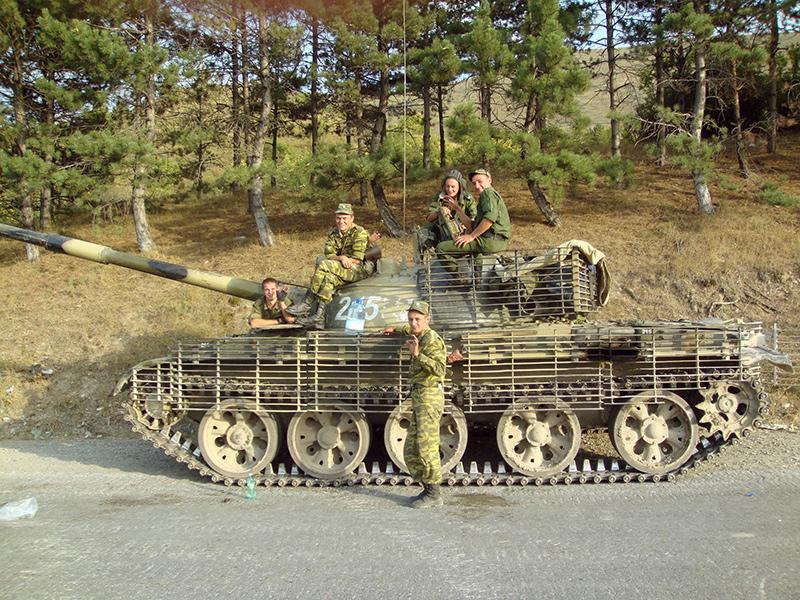 Т-62 с решетчатыми противокумулятивными экранами