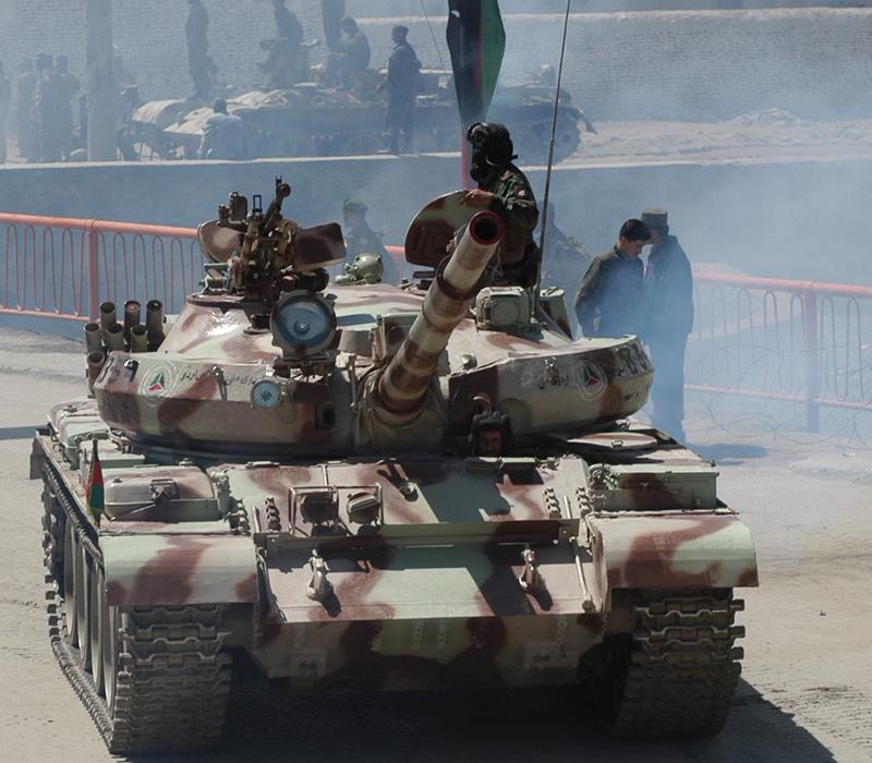 Афганский Т-62М в Кабуле, апрель 2004