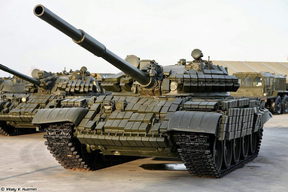 Т-62 с динамической защитой