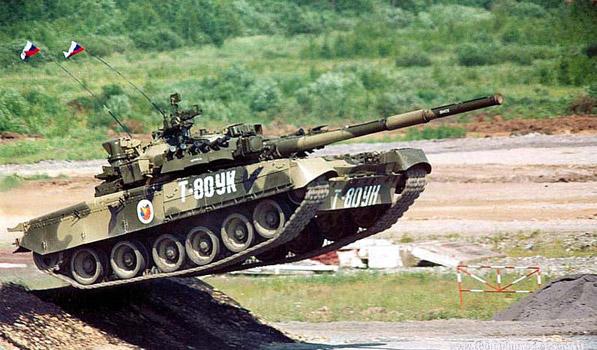 Танк Т-80УК - демонстрационный показ