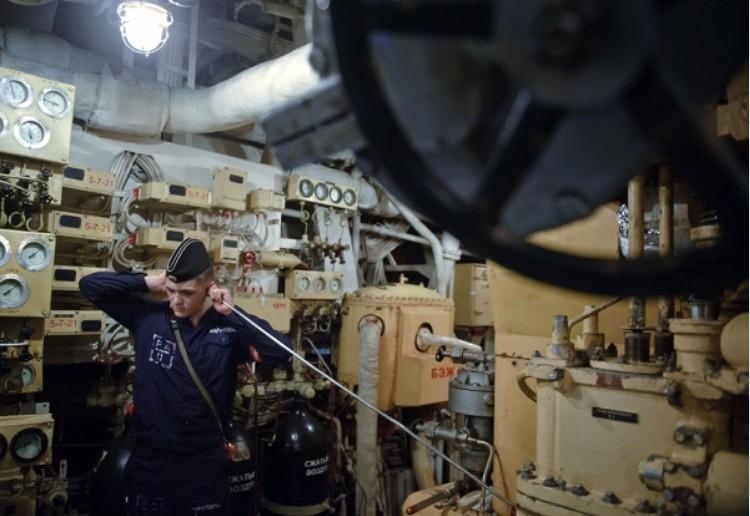 Машинно-котельное отделение атомного крейсера 'Петр Великий'