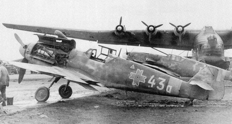Румынские истребители немецкого производства Мессершмитт Bf.109G-6