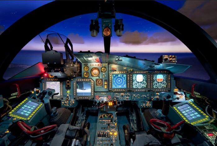 Кабина пилотов Су-34