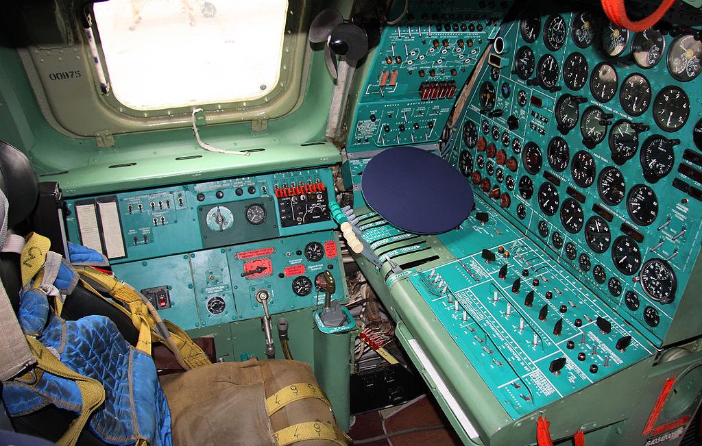 Место бортинженера Ту-95МС