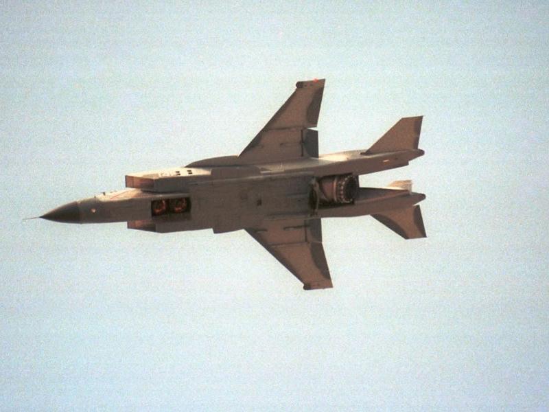 Як-141 - переход в горизонтальный полёт после вертикального взлёта