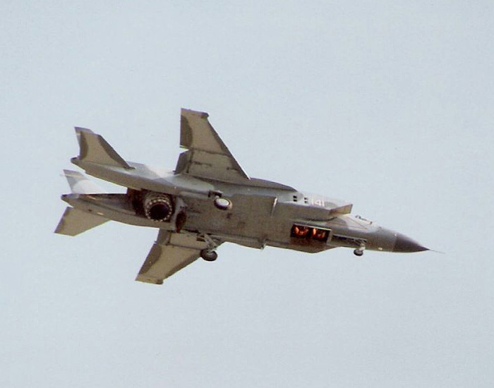 Як-141 во время висения