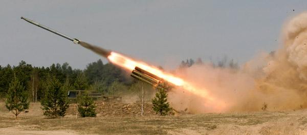 Армейская 220-мм РСЗО 'Ураган' (9К57)