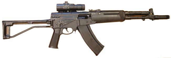 Автомат АЕК-971 калибра 5.45x39, ранний серийный вариант, с установленным коллиматорным прицелом