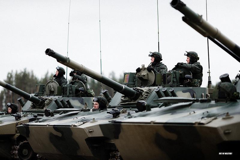 БМД-4М с боевым модулем 'Бахча-У'