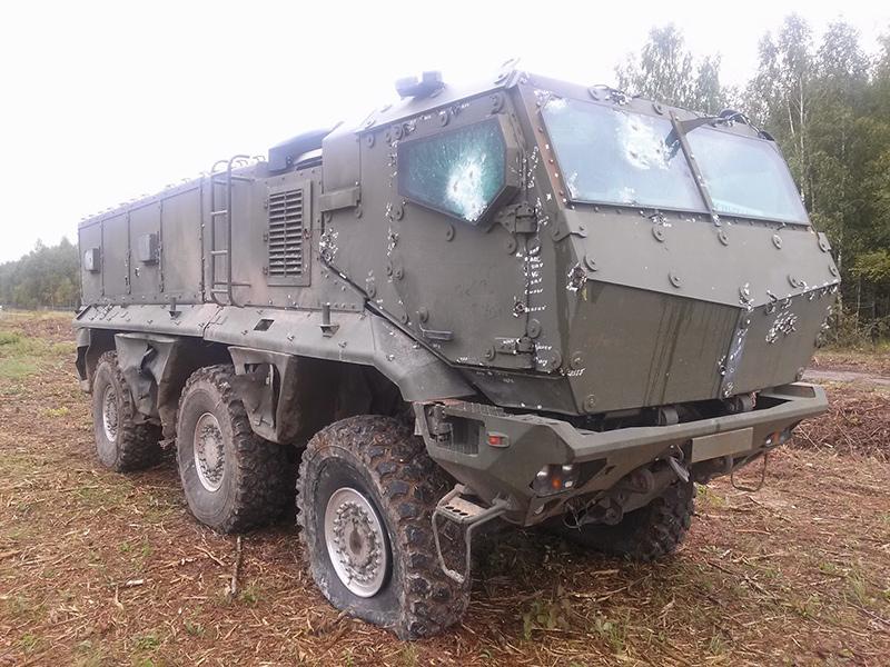 0 11b85bРезультаты обстрелов на полигоне бронеавтомобилей КамАЗ-63968 «Тайфун-К»