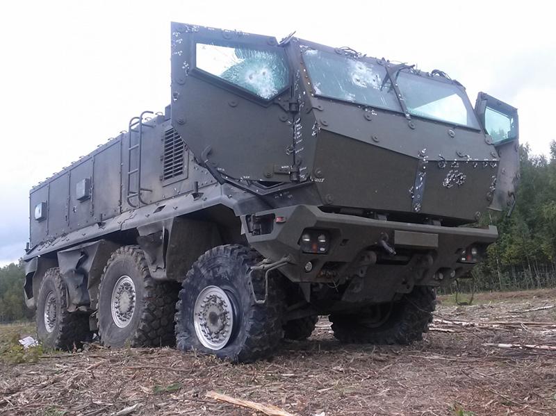 Результаты обстрелов на полигоне бронеавтомобилей КамАЗ-63968 «Тайфун-К»