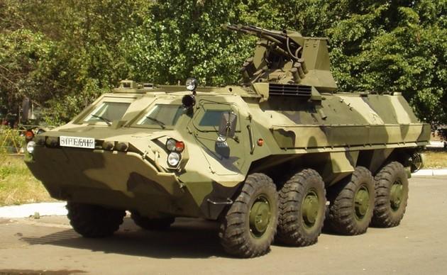 БТР-4 с боевым модулем «БАУ-23х2»