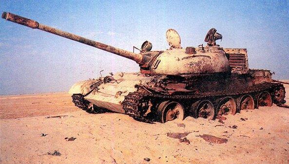 Т-55 подбитый в Ираке