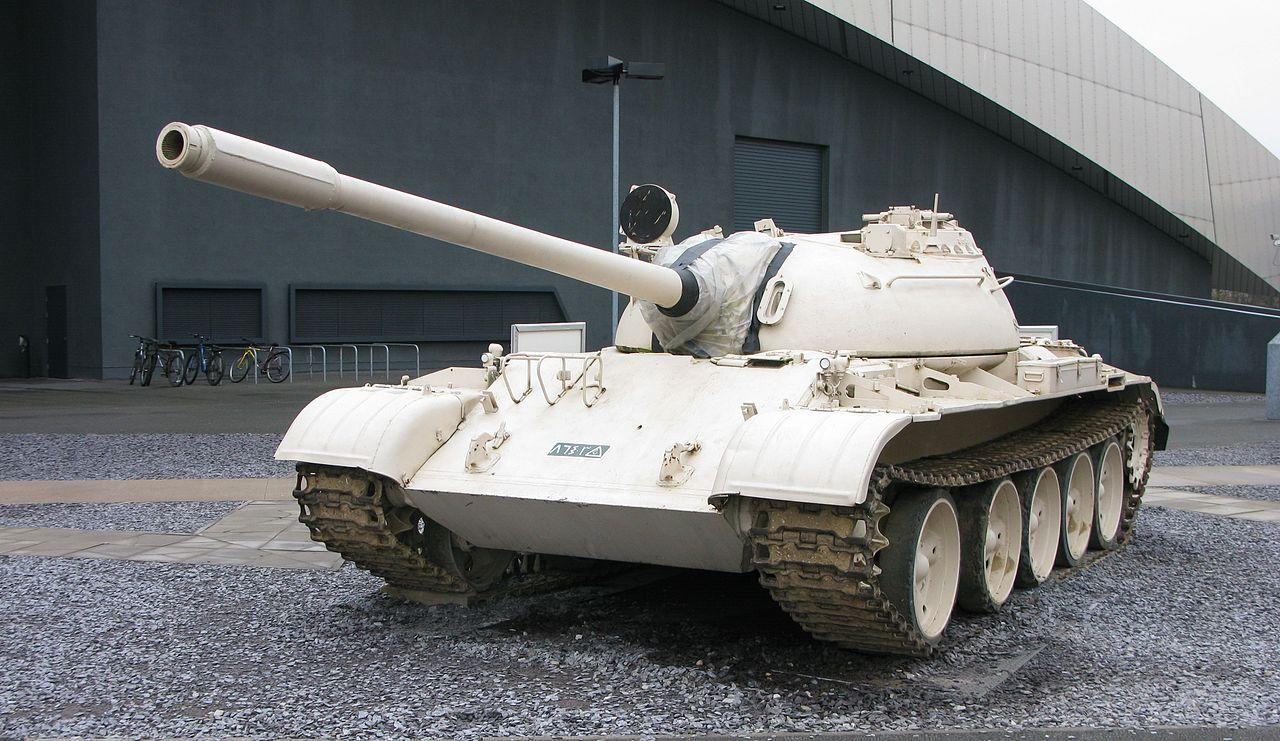 Иракский Т-55 в английском музее.