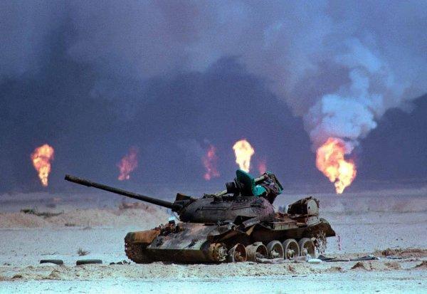 Подбитый Т-55, Буря в пустыне