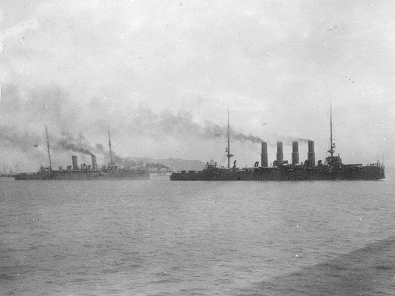 Бронепалубный крейсер 'Варяг' в Чемульпо. 27 января 1904 года