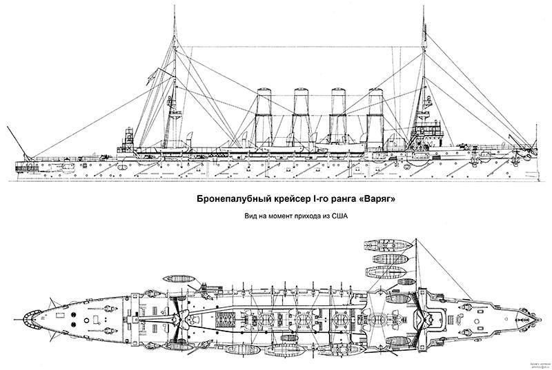 Внешний вид корабля по завершении постройки